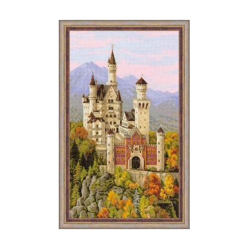 RIOLISクロスステッチ刺繍キット No.1520 「Neuschwanstein Castle」(ノイシュヴァンシュタイン城 ドイツ) ノイシュバンシュタイン城 【海外取り寄せ/納期1~2か月程度】