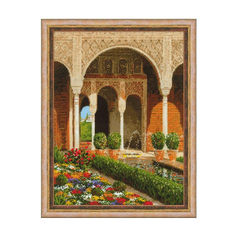 RIOLISクロスステッチ刺繍キット No.1579 「The Palace Garden」 (パレス・ガーデン) 【海外取り寄せ/納期30~60日程度】
