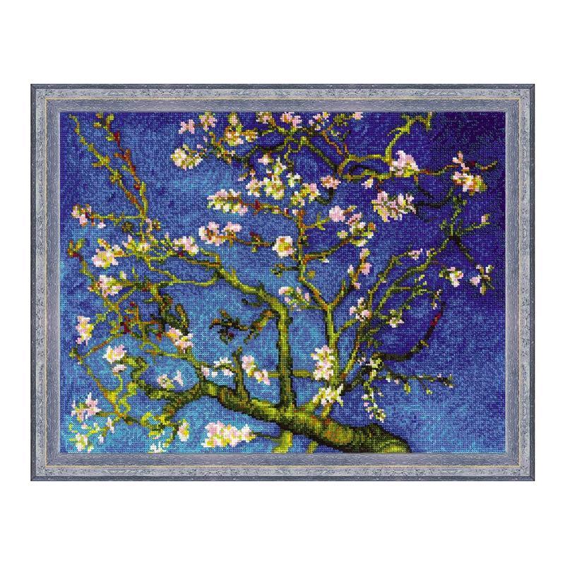 RIOLISクロスステッチ刺繍キット No.1698 「Almond Blossom」 after Vincent van Gogh's Painting (花咲くアーモンドの木の枝 フィンセント・ファン・ゴッホ) 【海外取り寄せ/納期1~2ヶ月程度】