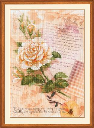 riolis cross stitch embroidery kit no0035 pt love letters rose rose love letter roses