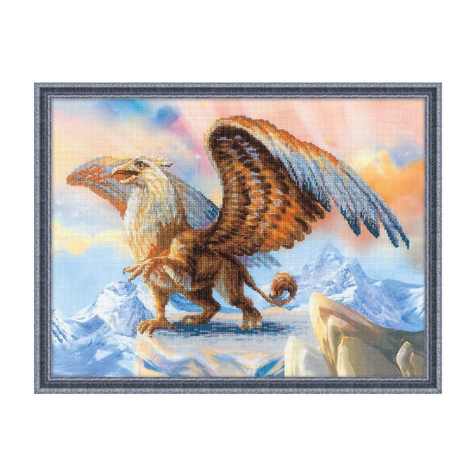 RIOLISクロスステッチ刺繍キット No.0078PT 「Griffin」 (グリフィン) 【プリント済みキット】 【海外取り寄せ/納期30~60日程度】