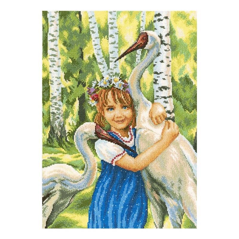 RTO クロスステッチ刺繍キット M346 「White cranes」 (白鶴) 【海外取り寄せ/通常納期40~80日程度】