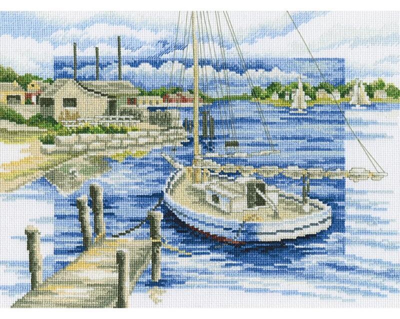 RTO クロスステッチ刺繍キット M397 「By the pier」 (桟橋にて) 【海外取り寄せ/通常納期40~80日程度】
