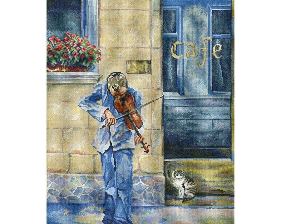 RTO クロスステッチ刺繍キット M467 「Street musician」 (ストリートミュージシャン) 【海外取り寄せ/通常納期40~80日程度】