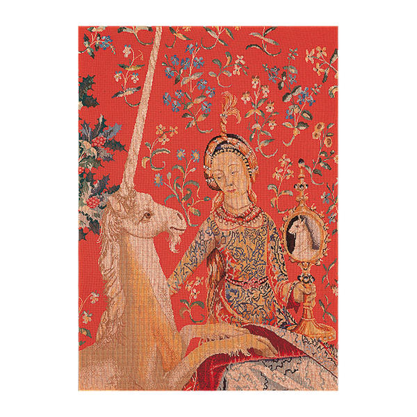 Thea Gouverneur クロスステッチ刺繍キットNo.2021 「Lady & Unicorn」(貴婦人と一角獣 ユニコーン) オランダ テア・グーヴェルヌール 【取り寄せ/納期40~80日程度】