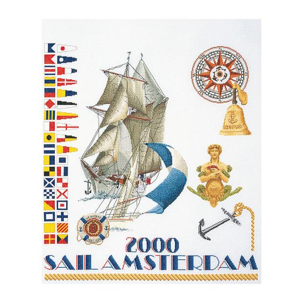 Thea Gouverneur クロスステッチ刺繍キットNo.3080 「Sail 2000」(帆船 セイル2000 アムステルダム) オランダ テア・グーヴェルヌール 【取り寄せ/納期40~80日程度】