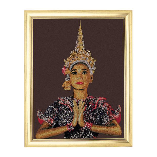 Thea Gouverneur クロスステッチ刺繍キットNo.420 「Thai Lady (Brown)」 タイの女性(ブラウン) テア・グーヴェルヌール 【取り寄せ/納期40~80日程度】
