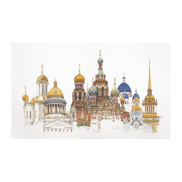 Thea Gouverneur クロスステッチ刺繍キットNo.430 「St. Petersburg」(サンクトペテルブルク ロシア共和国) オランダ テア・グーヴェルヌール 【取り寄せ/納期40~80日程度】
