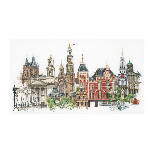 Thea Gouverneur クロスステッチ刺繍キットNo.450 「Amsterdam」(アムステルダム) オランダ テア・グーヴェルヌール 【取り寄せ/納期40~80日程度】