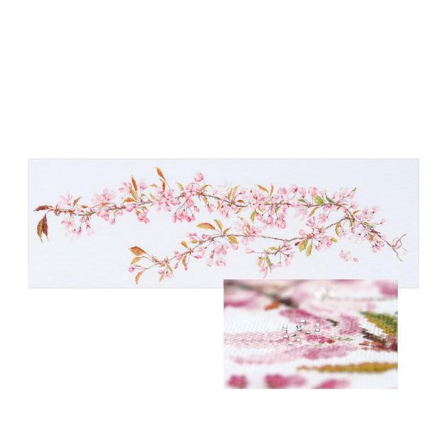 Thea Gouverneur クロスステッチ刺繍キットNo.481 「Japanese Blossom」(日本の桜 花) ビーズししゅう オランダ テア・グーヴェルヌール 【取り寄せ/納期40~80日程度】