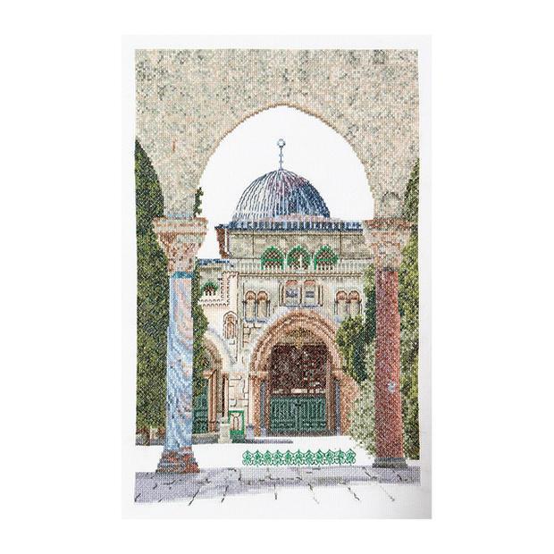 "Thea Gouverneur十字花刺绣刺绣配套元件No.534""Al-Aqsa Mosque""(阿尔=akusa·清真寺伊斯兰寺庙以色列耶路撒冷耶路撒冷)orandatea·guverunuru"