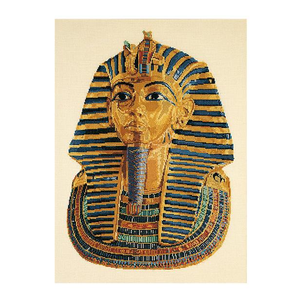 Thea Gouverneur クロスステッチ刺繍キットNo.950 「Tutankhamun (white)」 ツタンカーメン (古代エジプト第18王朝のファラオ 白) テア・グーヴェルヌール 【取り寄せ/納期40~80日程度】