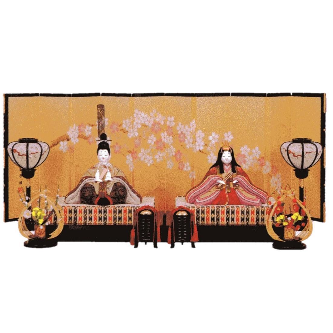 東芸 木目込人形キット「親王飾・都桜」 S780 手作り雛人形セット 人形・親王台のみ