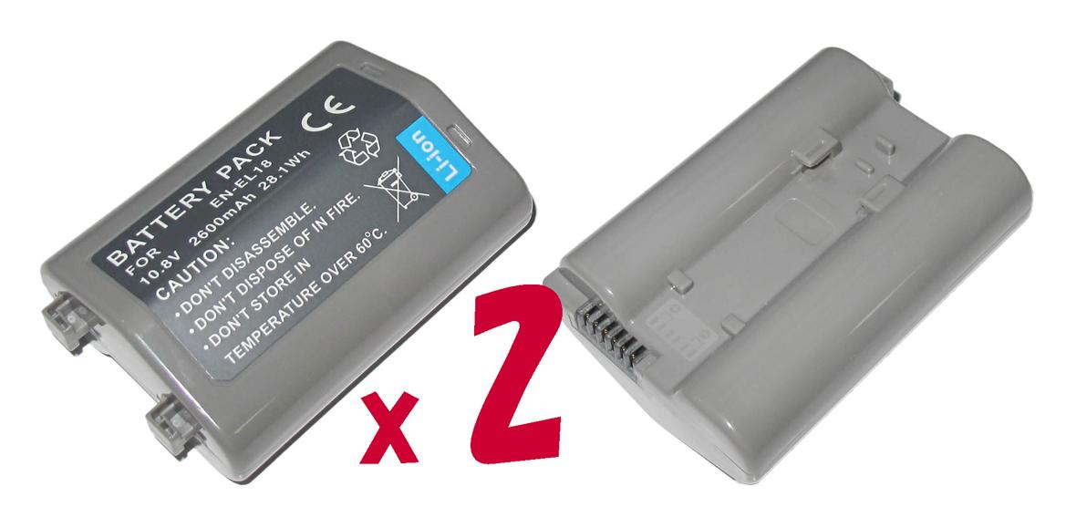 【2個セット】ニコンEN-EL18互換バッテリーのお得な2個セットNikon D4対応
