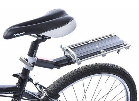 送料無料 軽量で簡単取り付け 保証付き B034 リアキャリア 後付け 新作からSALEアイテム等お得な商品 満載 工具不要 自転車用荷台 シートポストに取付け簡単 ゴムひも付 直営店