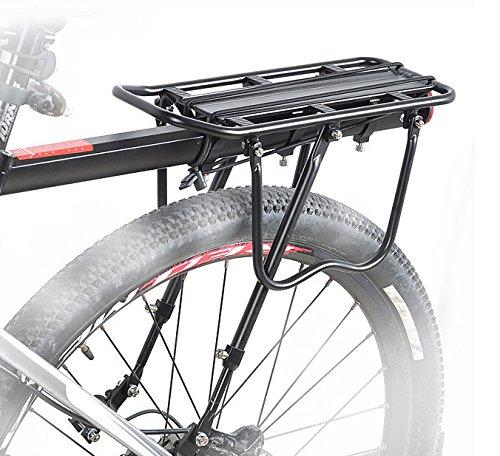 全店販売中 送料無料 簡単取り付け 保証付き B035 最新アイテム リアキャリア 後付け 取付け簡単 パニアバッグ取り付け可 自転車用荷台 反射板付 耐荷重25Kg