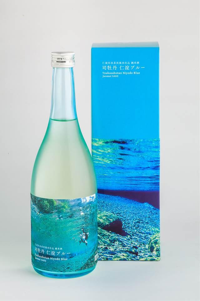 手数料無料 高知の日本酒日本一の清流 仁淀川の伏流水を使った純米酒 すっきりとした爽やかさが 伝わる 日本酒 司牡丹 純米酒 新色 720ml 仁淀ブルー