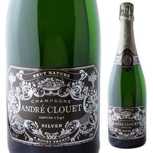 【6本~送料無料】シャンパーニュ シルヴァー ブリュット ナチュール NV アンドレ クルエ 1500ml [発泡白] [マグナム・大容量]Champagne Silver Brut Nature Andre Clouet