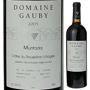 【6本~送料無料】コート デュ ルーション ヴィラージュ ムンタダ ルージュ 2013 ドメーヌ ゴビー 750ml [赤]Muntada Cote De Roussillon Villages Rouge Domaine Gauby