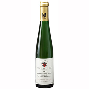 【送料無料】 [375ml]リーザー ニーダーベルク ヘルデン トロッケンベーレンアウスレーゼ 2003 シュロス リーザー [ハーフボトル][甘口白]Lieser Niederberg Helden Trockenbeernauslese Schloss Lieser