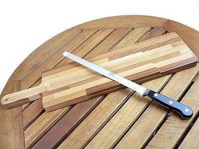 イタリア製サラミ専用まな板&ナイフ