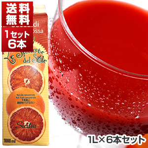 【送料無料】ブラッドオレンジジュース 1L×6本 オルトジェル[冷凍便のみ]【北海道・沖縄・離島は追加送料がかかります】