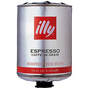 【送料無料】エスプレッソ 豆 ミディアムロースト ビーンキー有り 3kg×2 [1ケース(2本入)] イリー[同梱不可商品]【北海道・沖縄・離島は追加送料がかかります】
