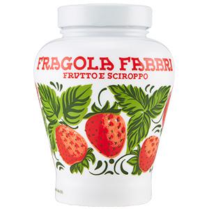 ファッブリ フラーゴラ(イチゴ)シロップ漬け 陶器入り 600g  ファブッリ