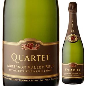カルテットアンダーソンヴァレーブリュット NV ロデレールエステート 750 ml [foaming white] Quartet Anderson  Valley Brut