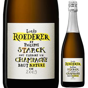 【6本~送料無料】[ギフトボックス入り]ブリュット ナチュール フィリップ スタルク ボックス 2009 ルイ ロデレール 750ml [発泡白]Brut Nature Philippe Starck Box Louis Roederer