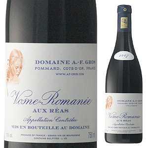 【6本~送料無料】ヴォーヌ ロマネ オー レア 2013 ドメーヌ アンヌ フランソワーズ グロ 750ml [赤]Vosne Romanee Aux Reas Domaine Anne Francoise Gros