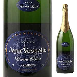 【送料無料】シャンパーニュ エクストラ ブリュット NV ジャン ヴェッセル 3000ml [発泡白]Champagne Extra Brut Jean Vesselle (Rm) [サクラアワード2017 ダブルゴールド][同梱不可]