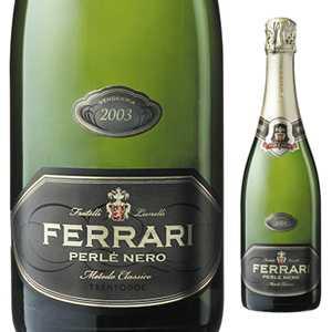 【6本~送料無料】ペルレ ネロ 2003 フェッラーリ 750ml [発泡白]Perle Nero Ferrari [オールドヴィンテージ ][蔵出し]