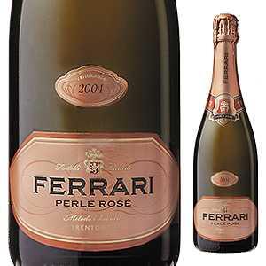 【6本~送料無料】ペルレ ロゼ ミレジム 2004 フェッラーリ 750ml [発泡ロゼ]Perle Rose Millesime Ferrari [オールドヴィンテージ ][蔵出し]