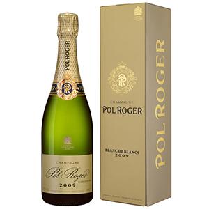 【6本~送料無料】[ギフトボックス入り]ブラン ド ブラン ヴィンテージ 2009 ポル ロジェ 750ml [発泡白]Blanc De Blancs Vintage Pol Roger