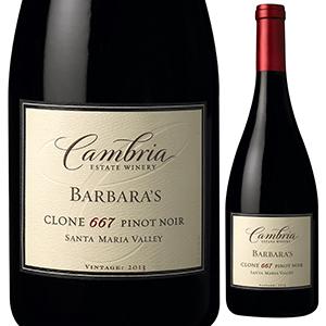 【6本~送料無料】バーバラズ クローン667 ピノ ノワール 2013 カンブリア 750ml [赤]Barbara's Clone 667 Pinot Noir Cambria