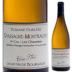 【6本~送料無料】シャサーニュ モンラッシェ プルミエ クリュ レ ショーメ 2015 ドメーヌ デュブレール 750ml [白]Chassagne Montrachet 1er Cru Les Chaum es Domaine Dubl re