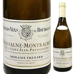 【6本~送料無料】シャサーニュ モンラッシェ プルミエ クリュ クロ サン ジャン 2012 ドメーヌ テナール 750ml [白]Chassagne Montrachet 1er Cru Clos St Jean Domaine Thenard