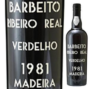 【送料無料】[8月21日(金)以降発送予定]マデイラ リベイロ レアル ヴェルデーリョ 1981 ヴィニョス バーベイト 750ml [マデイラ]Madeira Ribeiro Real Verdelho Vinhos Barbeito