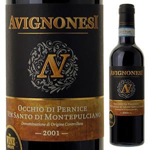 【送料無料】 [375ml]ヴィンサント ディ モンテプルチアーノ オッキオ ディ ペルニーチェ 2001 アヴィニョネージ [ハーフボトル][甘口白]Vin Santo Di Montepulciano Occhio Di Pernice Avignonesi