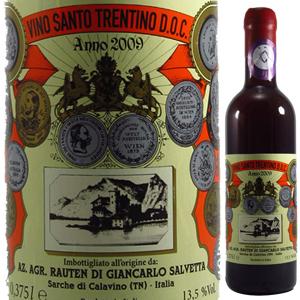 【6本~送料無料】 [375ml]ヴィノ サント トレンティーノ 2009 サルヴェッタ [ハーフボトル][甘口赤]Vino Santo Trentino Salvetta