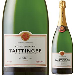 【6本~送料無料】ブリュット レゼルヴ NV テタンジェ 1500ml [発泡白] [マグナム・大容量]Brut Reserve Champagne Taittinger