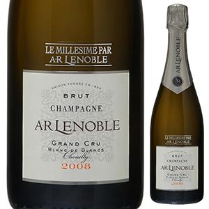 【6本~送料無料】[ギフトボックス入り]ブラン ド ブラン ミレジメ グラン クリュ シュイイ 2008 ルノーブル 750ml [発泡白]Blanc De Blancs Millesime Grand Cru Chouilly A.r Lenoble