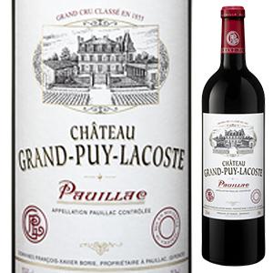 【6本~送料無料】シャトー グラン ピュイ ラコスト 2013 750ml [赤]Chateau Grand Puy Lacoste
