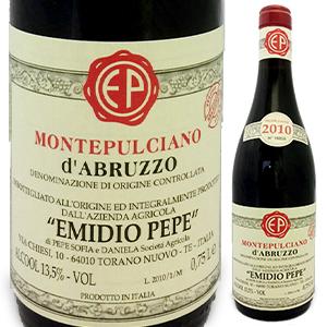 【送料無料】モンテプルチアーノ ダブルッツォ 2010 エミディオ ペペ 750ml [赤]Montepulciano d'Abruzzo Emidio Pepe [モンテプルチャーノ]