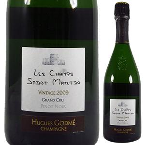 【6本~送料無料】レ シャン サン マルタン 2009 ユーグ ゴドメ 750ml [発泡白]Les Champs Saint Martin Hugues Godme