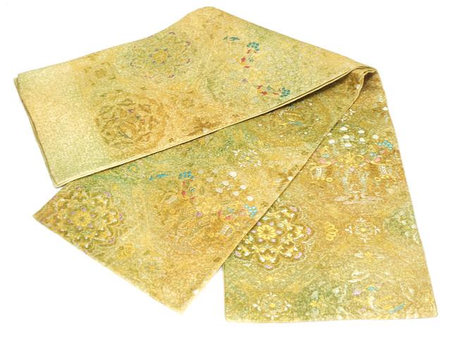正絹西陣袋帯 織傅謹製 正絹袋帯 訳あり実店舗キャリー在庫 お仕立て代無料 トッカ