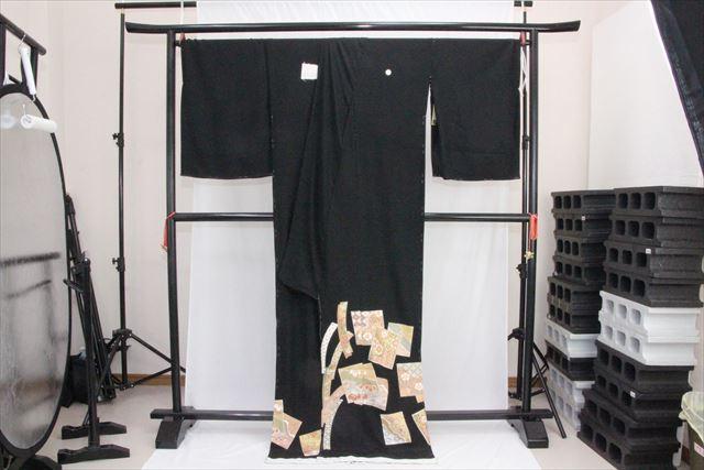 訳あり実店舗キャリー在庫 正絹黒留袖 絹100% 黒(あやめ×七宝) 正装 結婚式 着付けの練習 トッカ