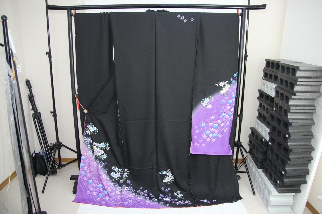 訳あり店舗キャリー在庫 正絹 振袖(八掛付) 仮絵羽 ハギレ はぎれ 仕立ての練習用に最適 舞台衣装としても使えます。 トッカ
