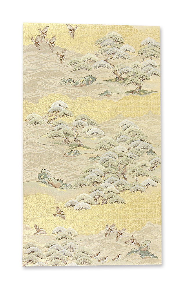 呉服屋 正絹 袋帯 西陣織 長嶋成織物謹製 仕立て上がり品 ながしま帯 正絹袋帯 美しいキモノ 和のなごみや味わいを着物姿でお過ごしください。和服でひとときの癒しの時間を トッカ 送料無料